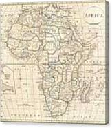 1799 Clement Cruttwell Map Of Africa  Canvas Print