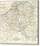 1799 Clement Cruttwell Map Of Belgium Or The Netherlands Canvas Print