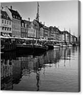 17th Century Scandinavian Canal Canvas Print