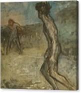 Greek Shepherd And Maiden Canvas Print