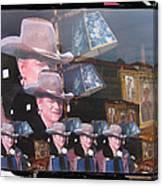 21 Duke's John Wayne Cardboard Cutout Collage Tombstone  Arizona 2004-2009 Canvas Print