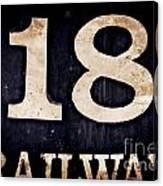 18 Railway Canvas Print