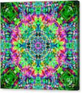 Rainbow Light Mandala Canvas Print