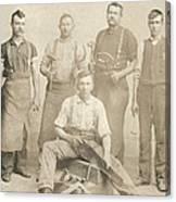 1800's Vintage Photo Of Blacksmiths Canvas Print