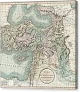1801 Cary Map Of Turkey Iraq Armenia And Sryia Canvas Print