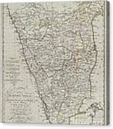 1804 German Edition Of The Rennel Map Of India Canvas Print