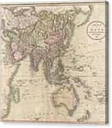 1806 Cary Map Of Asia Polynesia And Australia Canvas Print