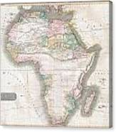 1813 Thomson Map Of Africa Canvas Print