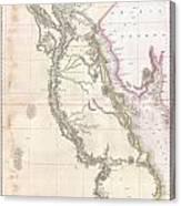 1818 Pinkerton Map Of Egypt Canvas Print