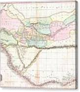 1818 Pinkerton Map Of Western Africa  Canvas Print