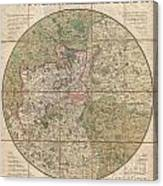 1820 Mogg Pocket Or Case Map Of London Canvas Print