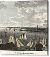 1824 Klinkowstrom View Of New York City From Brooklyn  Canvas Print
