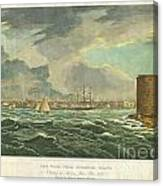 1825 Wall And Hill View Of New York City From The Hudson River Port Folio Canvas Print