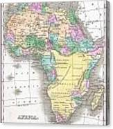 1827 Finley Map Of Africa Canvas Print