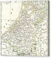 1832 Delamarche Map Of Holland And Belgium Canvas Print