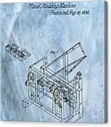 1836 Wood Molding Machine Canvas Print