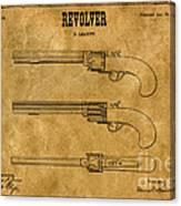 1837 Leavitt Revolver Patent Art 1 Canvas Print