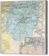 1857 Dufour Map Of Constantine Algeria Canvas Print