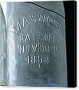 1858 Masons Jar Canvas Print