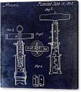 1862 Corkscrew Patent Drawing Canvas Print