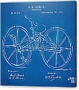 1869 Velocipede Bicycle Patent Blueprint Canvas Print