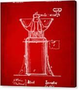 1873 Coffee Mills Patent Artwork Red Canvas Print