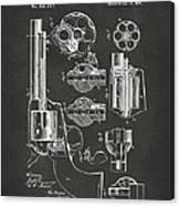 1875 Colt Peacemaker Revolver Patent Artwork - Gray Canvas Print