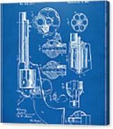 1875 Colt Peacemaker Revolver Patent Blueprint Canvas Print