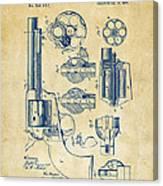 1875 Colt Peacemaker Revolver Patent Vintage Canvas Print