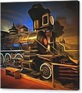 1880 Steam Locomotive  Canvas Print