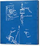 1881 Taylor Camera Obscura Patent Blueprint Canvas Print