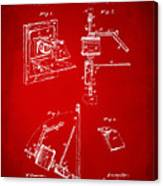 1881 Taylor Camera Obscura Patent Red Canvas Print
