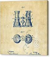 1882 Opera Glass Patent Artwork - Vintage Canvas Print