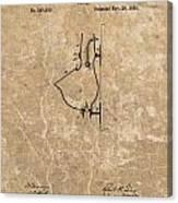 1882 Urinal Patent Canvas Print