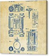 1889 First Computer Patent Vintage Canvas Print