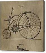 1890 Bicycle Patent Canvas Print