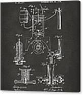 1890 Bottling Machine Patent Artwork Gray Canvas Print
