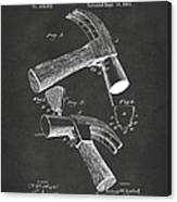 1890 Hammer Patent Artwork - Gray Canvas Print