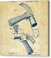 1890 Hammer Patent Artwork - Vintage Canvas Print