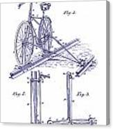 1891 Bicycle Patent Blueprint Canvas Print