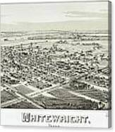 1891 Vintage Map Of Whitewright Texas Canvas Print