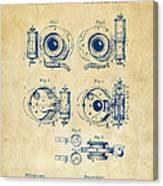 1892 Barker Camera Shutter Patent Vintage Canvas Print