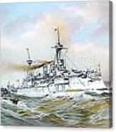 1895 - The Brandenburg Squadron At Sea - Color Canvas Print