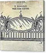 1895 Wine Room Fixture Design Patent Canvas Print