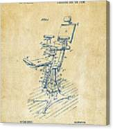 1896 Dental Chair Patent Vintage Canvas Print
