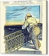1897 - Le Rire Journal Humoristique Paraissant Le Samedi Magazine Cover - July 31 - Color Canvas Print