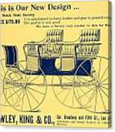 1898 - Hawley King And Company - Surrey Buggy Advertisement - Color Canvas Print