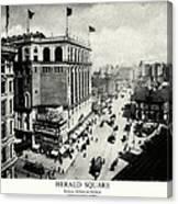 1898 Herald Square New York City Canvas Print