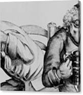 18th Century Engraving Of Alcoholics Canvas Print