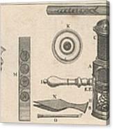18th Century Microscope, Artwork Canvas Print
